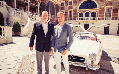 Monaco citytour with Prince Albert and Nico Rosberg