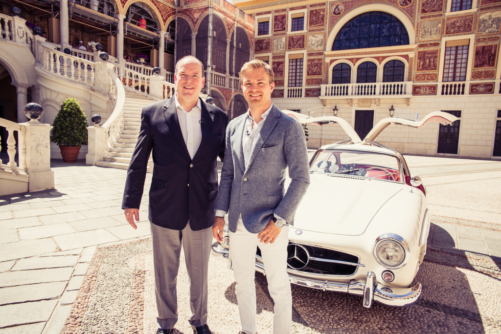 Monaco citytour with Prince Albert and Nico Rosberg