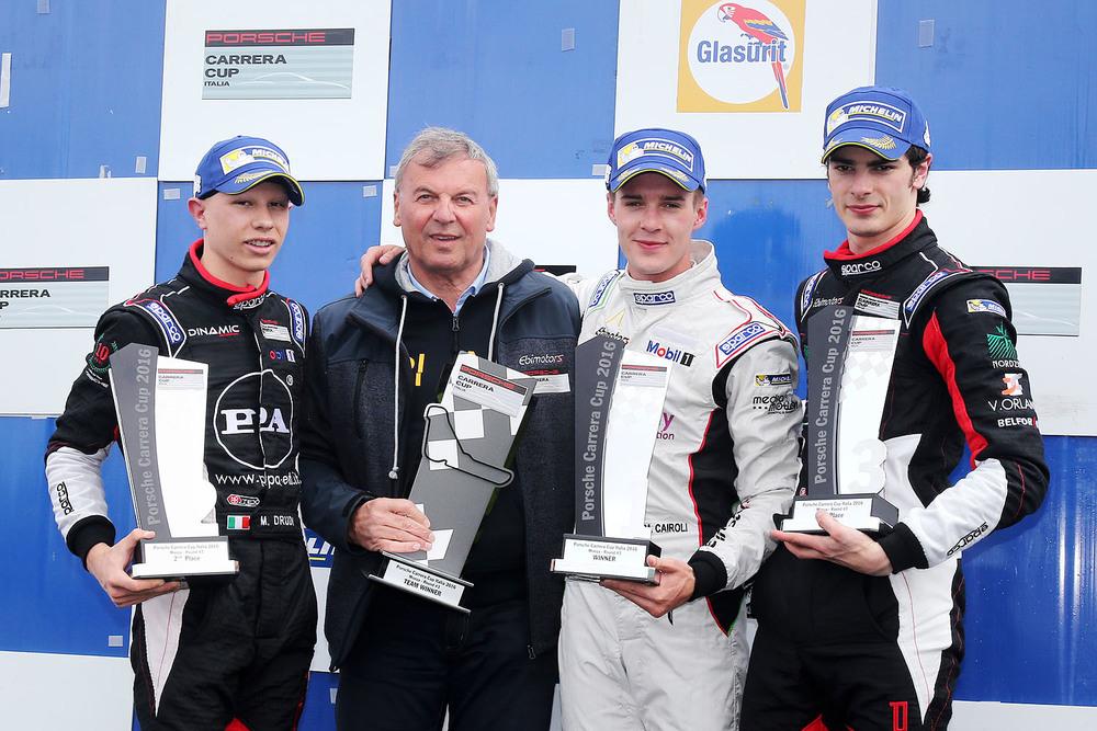 Carrera Cup Italia: Cairoli re di Monza