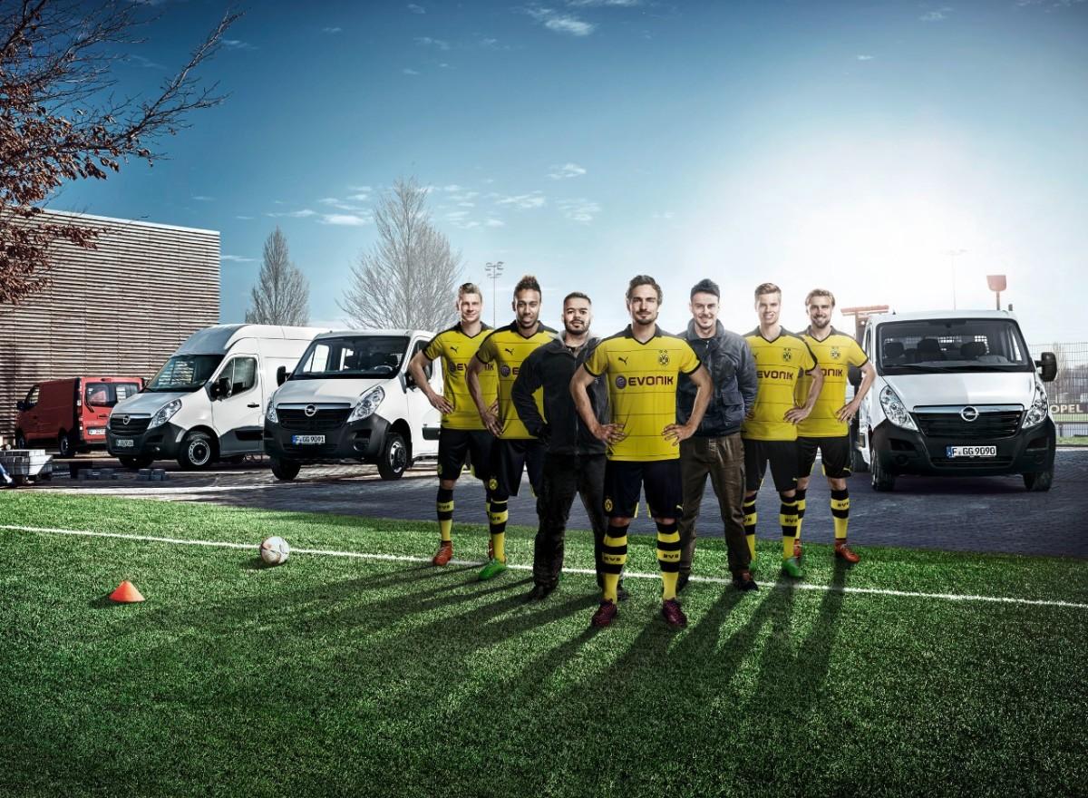 Opel Movano e il Borussia Dortmund