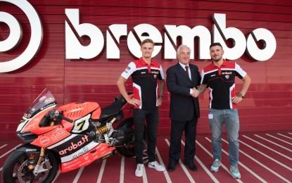 Aruba.it Racing Ducati in visita alla Brembo