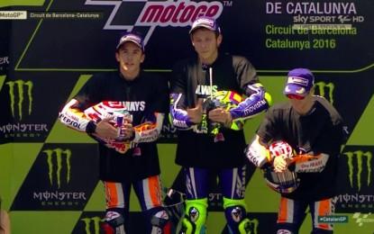 GP Catalogna: Rossi, Marquez, Pedrosa nel segno di Luis