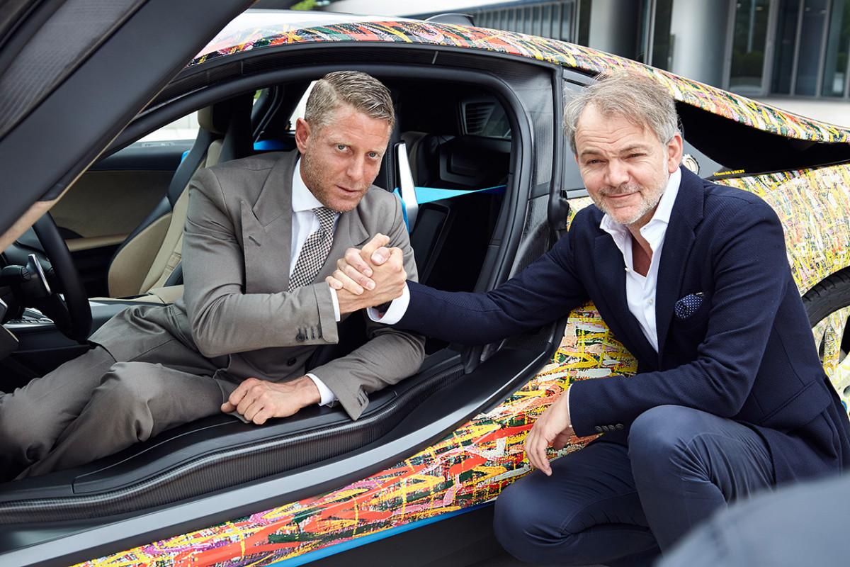 Lapo Elkann e Garage Italia Customs a casa BMW