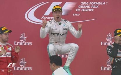 GP Europa: Rosberg, Vettel, Perez sul primo podio di Baku