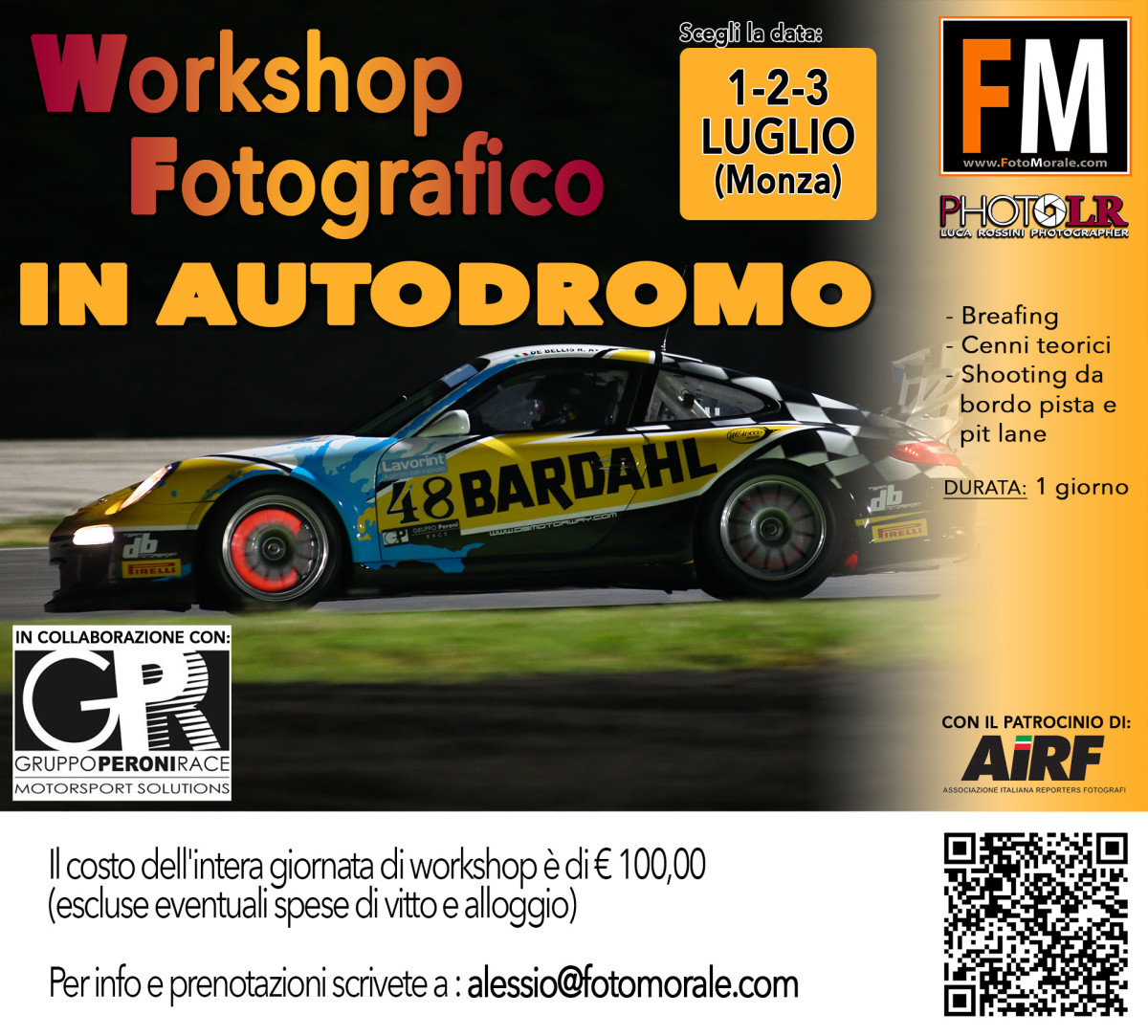 Workshop fotografico in pista a Monza