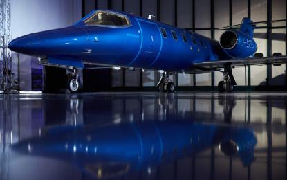 "Garage Italia Customs presenta il Learjet31 ""Nel blu dipinto di blu"""