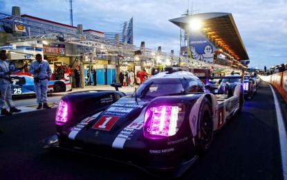 Porsche 919 Hybrid subito davanti a Le Mans