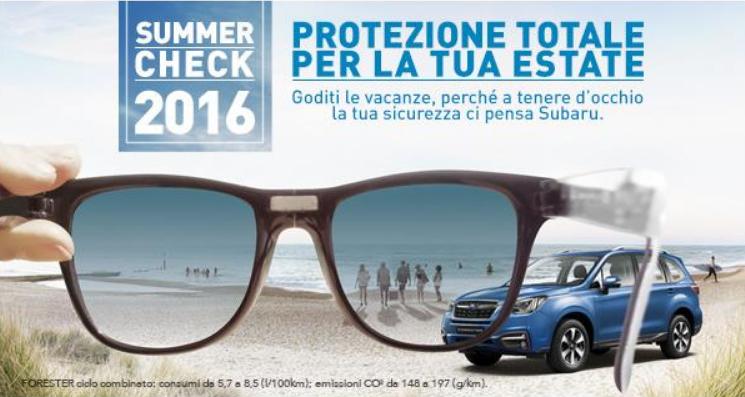 Subaru Summer Check: sicurezza prima di tutto