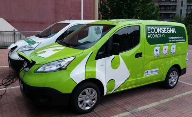 Nissan, Carrefour e la spesa a domicilio 100% elettrica