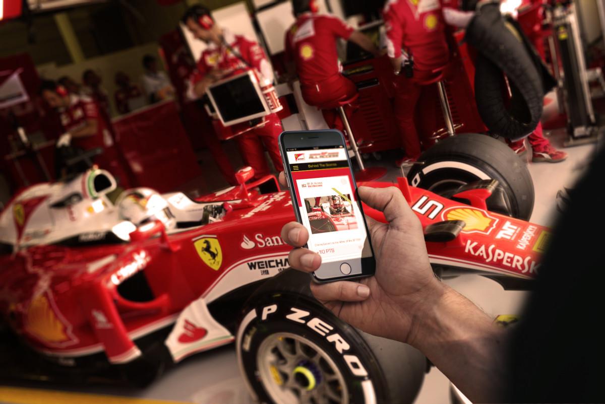 Online la prima app di Scuderia Ferrari