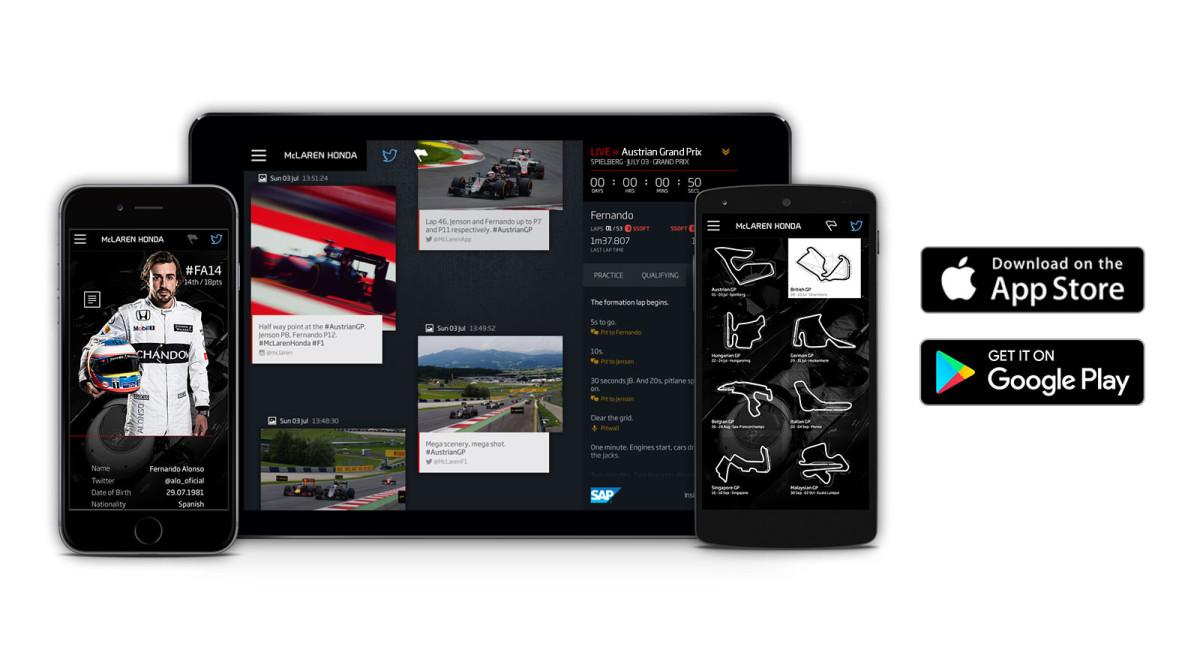 McLaren-Honda App anche per Android