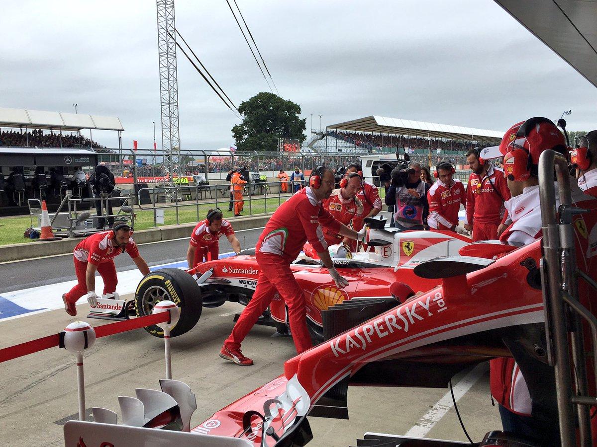 Gran Bretagna: sostituzione cambio sulla Ferrari di Vettel