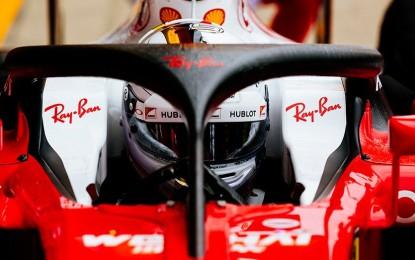 ed45150568 Gran Bretagna  nelle FP1 la Ferrari prova halo2