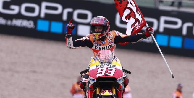 MotoGP: Marquez re del Sachsenring. Rossi 8°