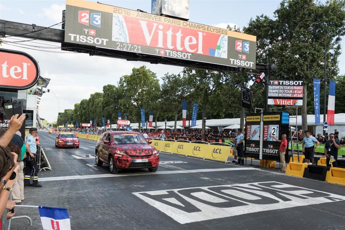 ŠKODA Kodiaq alla tappa finale del Tour de France