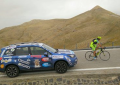 Subaru con Nico Valsesia sul monte Elbrus