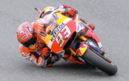 MotoGP: in Germania pole di Marquez, Rossi 3°