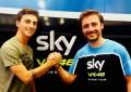 Bagnaia in Moto2 nel 2017 con lo Sky Racing Team VR46