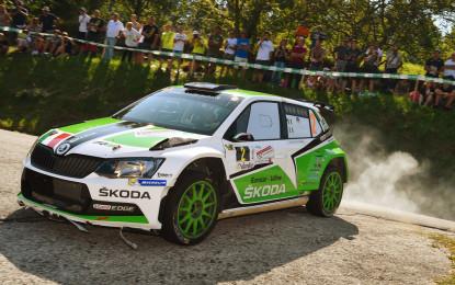 Podio per la ŠKODA Fabia R5 al Rally del Friuli