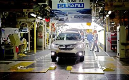 Subaru: 3 milioni di veicoli prodotti negli USA