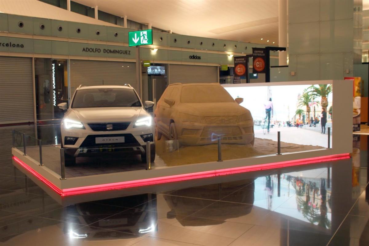SEAT Ateca porta la spiaggia in aeroporto a Barcellona