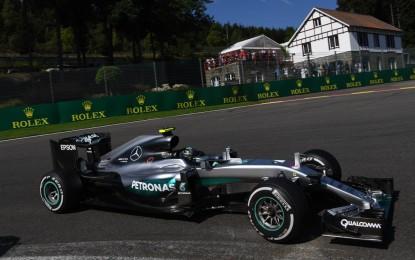 FP1 Belgio: Mercedes e Ferrari 3° e 5°