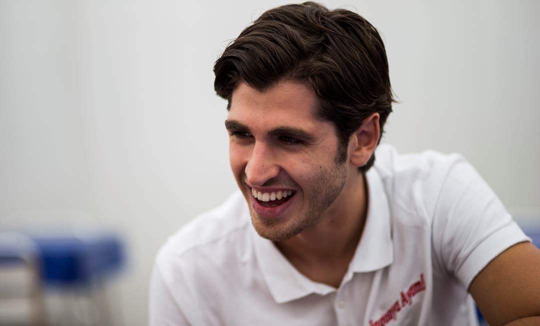Giovinazzi al simulatore F1 Ferrari