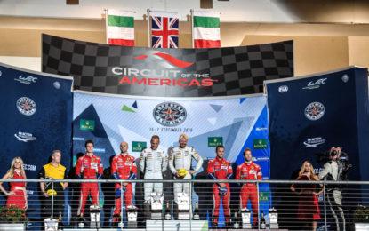 WEC: doppio podio per la Ferrari a Austin