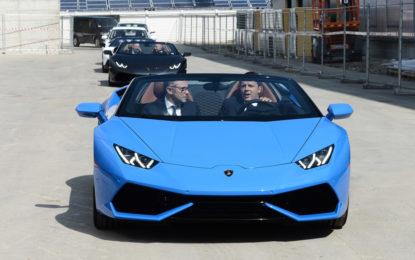 Renzi in visita ad Automobili Lamborghini