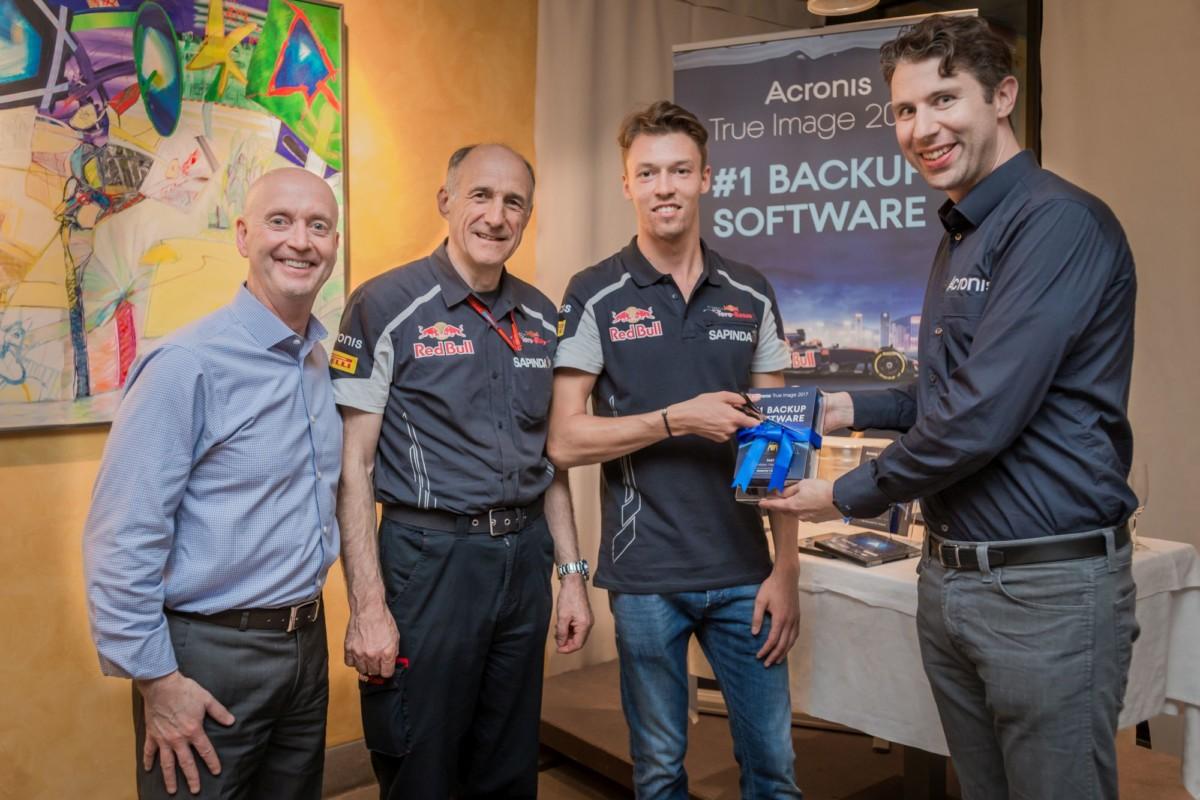 Acronis, cassaforte dei dati della Scuderia Toro Rosso