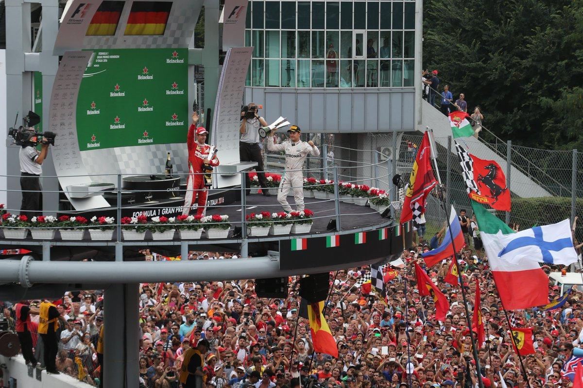 Rosberg, Hamilton e Vettel sul podio di Monza