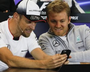 Rosberg e Button: dalla pista al microfono