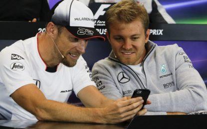 Rosberg e Button: dalla pista al microfono