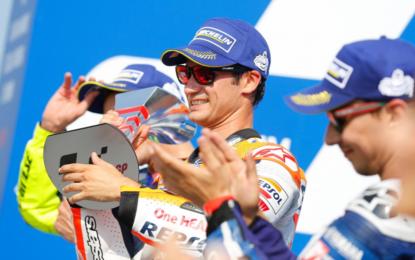 San Marino: Pedrosa vince davanti a Rossi e Lorenzo
