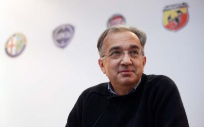 FCA: Marchionne non sarà al Salone di Parigi