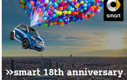 #smart18: smart diventa maggiorenne