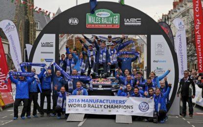 WRC Galles: Ogier vince, per Volkswagen quarto Titolo