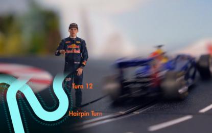Max Verstappen e il circuito di Suzuka in miniatura