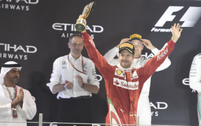 Abu Dhabi: Ferrari sul podio con Vettel