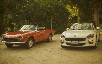 Fiat 124 Spider festeggia i suoi primi cinquant'anni