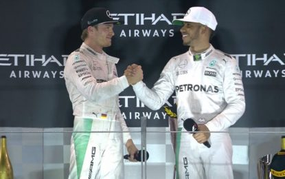 Abu Dhabi: Hamilton vince ma cede la corona a Rosberg. Vettel 3°