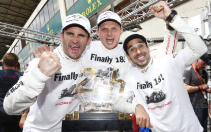 Porsche trio wins drivers' title in the FIA WEC