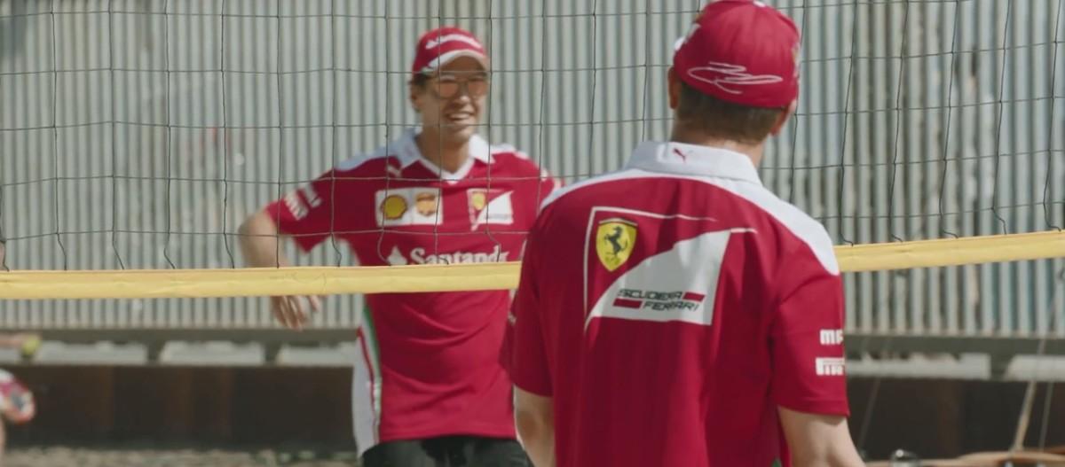Santander e la sfida Vettel-Raikkonen a beach volley