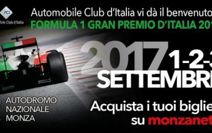 Aperta la prevendita del GP d'Italia 2017