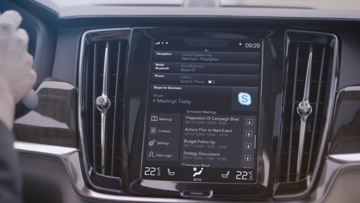 Volvo: Skype for Business Microsoft nelle nuove Serie 90