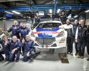 La 208T16 di Andreucci vince di nuovo il Monza Rally Show