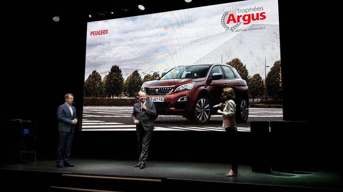 Tre premi per Peugeot nei Trofei Argus 2017