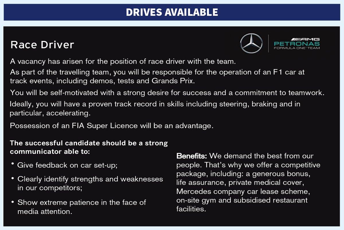 AAA pilota cercasi: l'annuncio Mercedes su Autosport!