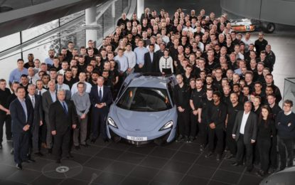 McLaren: prodotta la 10.000° vettura