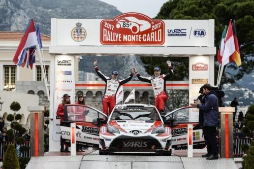 Secondo posto per Toyota al Rally di Monte Carlo